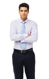 Confident Businessman Standing Arms Crossed Royalty Free Stock Photography