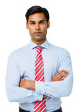 Confident Businessman Standing Arms Crossed Royalty Free Stock Image