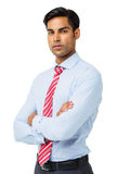 Confident Businessman Standing Arms Crossed Stock Image