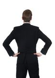 Confident Businessman Standing With Hands On Hips Royalty Free Stock Photos