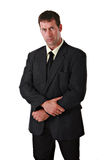 Confident businessman in suit Stock Images