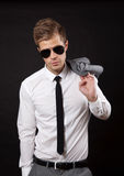 Confident businessman with sunglasses Royalty Free Stock Photos