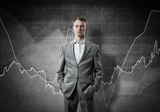 Confident businessman sure in success Royalty Free Stock Images