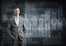 Confident businessman sure in success Stock Images