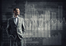 Confident businessman sure in success Royalty Free Stock Photo