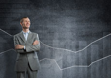 Confident businessman sure in success Stock Images