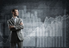 Confident businessman sure in success Stock Photography