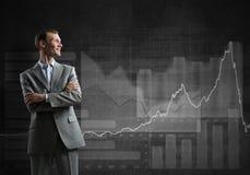 Confident businessman sure in success Stock Image
