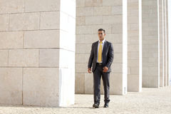 Confident businessman walking Stock Photography