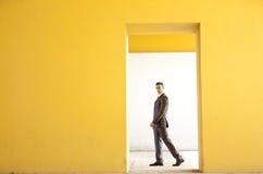 Confident businessman walking Stock Photography