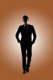 Confident businessman walking stock photos
