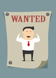 Confident businessman in wanted poster Stock Photography