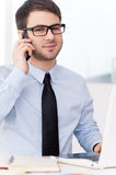 Confident businessman at work. Royalty Free Stock Photos