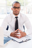 Confident businessman. Royalty Free Stock Images