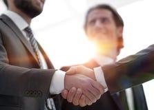 Closeup.handshake of business people royalty free stock photos