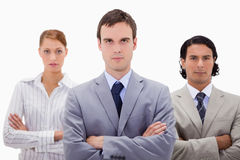 Confident businesspeople with arms folded Royalty Free Stock Photos