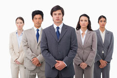 Confident businessteam standing Stock Image