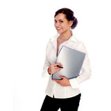 Confident Businesswoman. On A White Background Stock Image