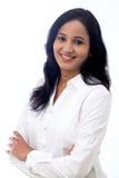 Confident Businesswoman against white Stock Images