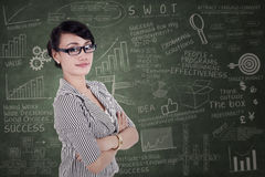 Confident businesswoman with arms crossed Stock Photography