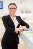 Confident businesswoman. Royalty Free Stock Image