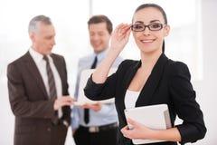 Confident businesswoman. stock photo