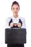 Confident Businesswoman With Briefcase. All Stock Image