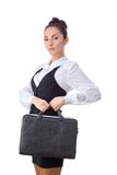 Confident Businesswoman With Briefcase. All Stock Photography