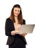Confident Businesswoman Browsing the Web Stock Photos