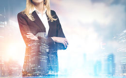 Confident businesswoman close up in a city Stock Photo