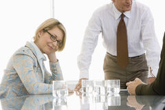 Confident Businesswoman In Conference Room Stock Photos