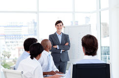 Confident businesswoman doing a presentation Royalty Free Stock Images
