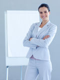 Confident businesswoman giving a presentation Stock Photography