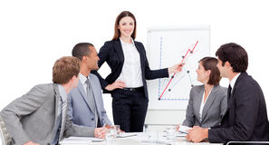 Confident businesswoman giving a presentation Royalty Free Stock Photos