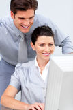 Confident businesswoman and her colleague Stock Photos