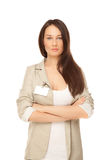 Confident businesswoman looking to the camera Stock Photo