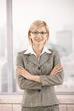 Confident businesswoman in office Stock Photos