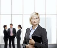 Confident businesswoman in office lobby Royalty Free Stock Photography