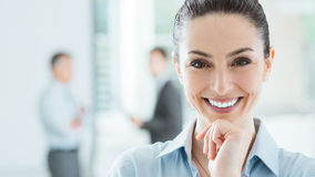 Confident businesswoman in the office posing Royalty Free Stock Photo