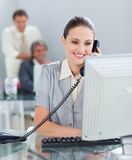 Confident businesswoman on phone Stock Photo