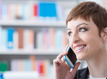 Confident businesswoman on the phone Royalty Free Stock Photo