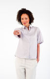 Confident businesswoman pointing at the camera Stock Photos