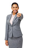 Confident Businesswoman Pointing At You Stock Images