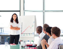 Confident businesswoman in a presentation Royalty Free Stock Photo