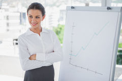 Confident businesswoman presenting a graph Royalty Free Stock Photo