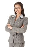 Confident businesswoman smiling Stock Photo