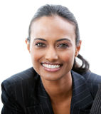 Confident businesswoman smiling at the camera Stock Photo