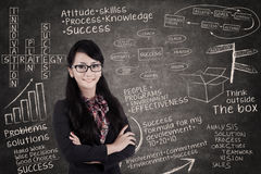 Confident Businesswoman Smiling Royalty Free Stock Images