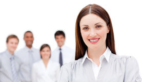Confident businesswoman smiling with her colleague Stock Image