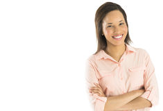 Confident Businesswoman Standing Arms Crossed Royalty Free Stock Image